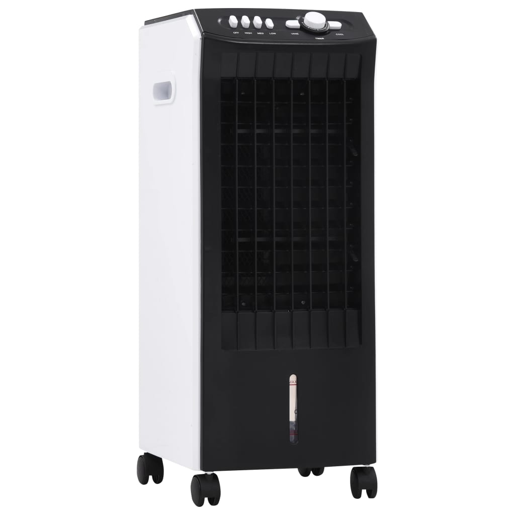 vidaXL Răcitor, umidificator, purificator de aer mobil 3-în-1, 65 W poza 2021 vidaXL