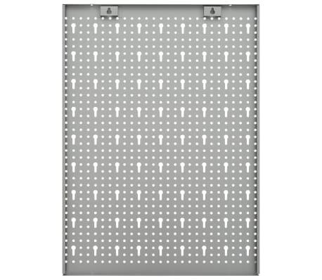 vidaXL 4x Panneaux à Chevilles Muraux Acier Organisateur Outils Garage Atelier