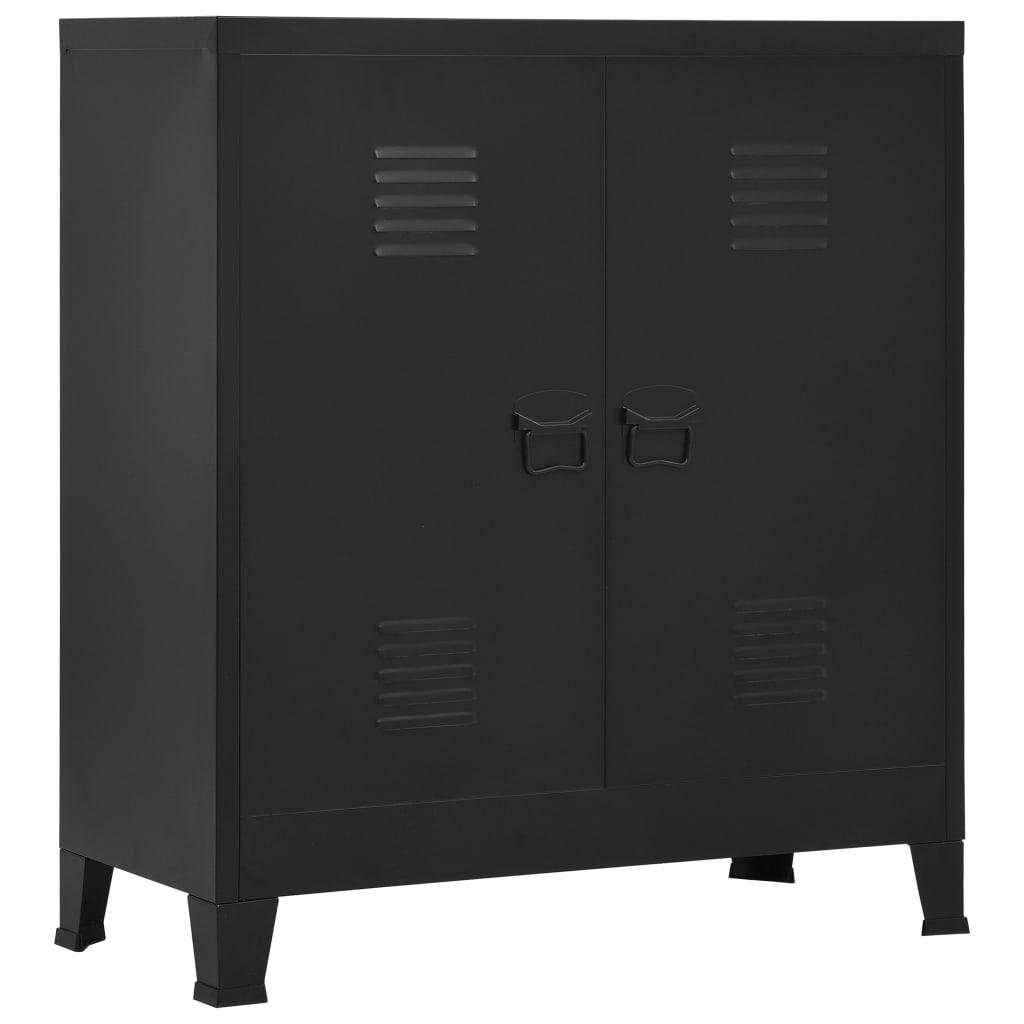vidaXL Fișet, negru, 90 x 40 x 100 cm, oțel, industrial imagine vidaxl.ro