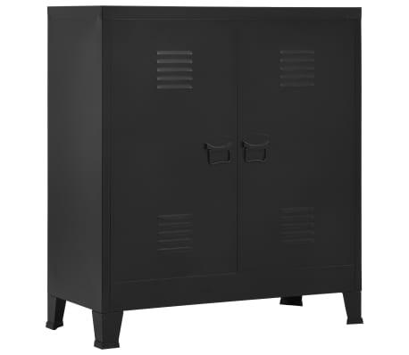 vidaXL Archiefkast industrieel 90x40x100 cm staal zwart