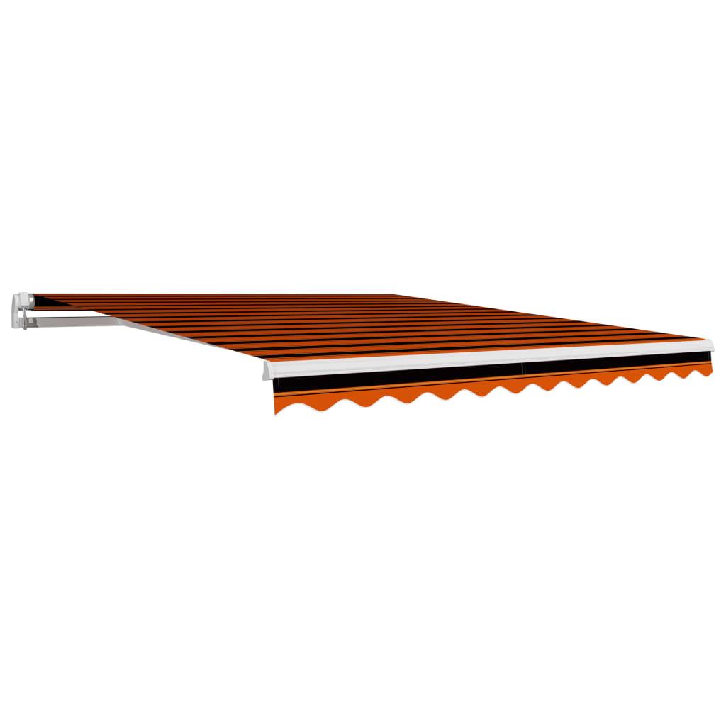Plachta na markýzu plátěná oranžovo-hnědá 300 x 250 cm