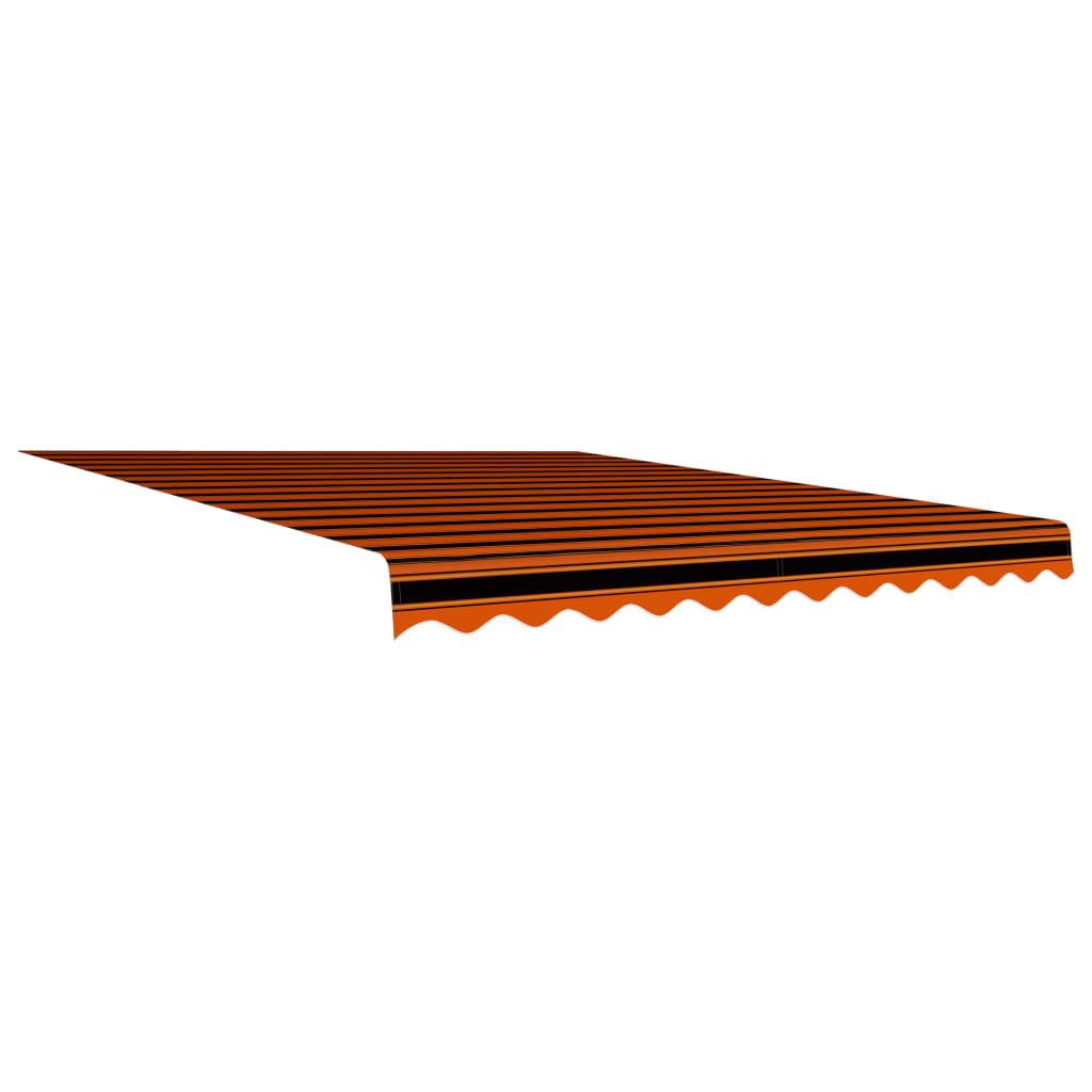 vidaXL Pânză de copertină, portocaliu și maro, 350 x 250 cm vidaxl.ro