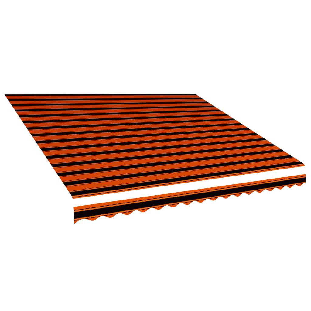 vidaXL Pânză de copertină, portocaliu și maro, 450 x 300 cm poza vidaxl.ro
