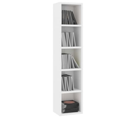 "vidaXL CD Cabinet White 8.2""x6.2""x36.8"" Chipboard[3/6]"