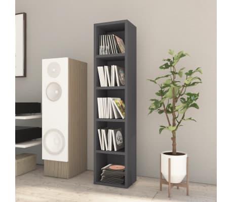 "vidaXL CD Cabinet Gray 8.2""x6.2""x36.8"" Chipboard[1/6]"