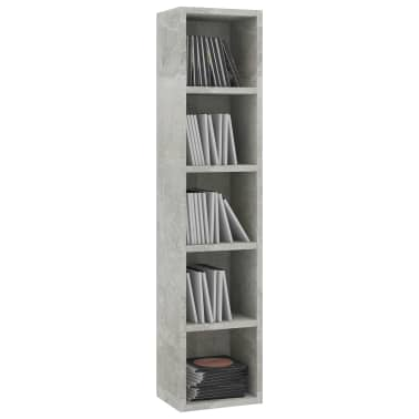 vidaXL CD-hylla betonggrå 21x16x93,5 cm spånskiva[3/6]