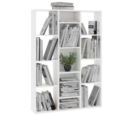 """vidaXL Room Divider/Book Cabinet White 39.3""""x9.4""""x55.1"""" Chipboard[4/7]"""