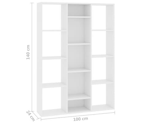 """vidaXL Room Divider/Book Cabinet White 39.3""""x9.4""""x55.1"""" Chipboard[7/7]"""