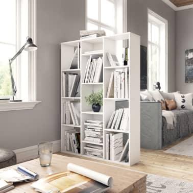 """vidaXL Room Divider/Book Cabinet White 39.3""""x9.4""""x55.1"""" Chipboard[3/7]"""