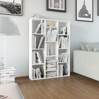 """vidaXL Room Divider/Book Cabinet White 39.3""""x9.4""""x55.1"""" Chipboard[1/7]"""