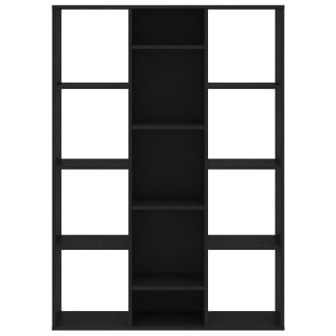 "vidaXL Room Divider/Book Cabinet Black 39.3""x9.4""x55.1"" Chipboard[5/7]"