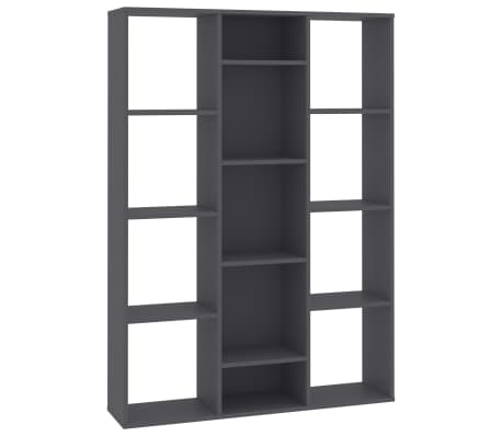 "vidaXL Room Divider/Book Cabinet Gray 39.3""x9.4""x55.1"" Chipboard[2/7]"