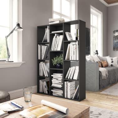 "vidaXL Room Divider/Book Cabinet Gray 39.3""x9.4""x55.1"" Chipboard[3/7]"