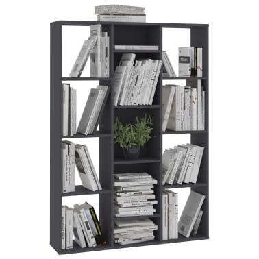 "vidaXL Room Divider/Book Cabinet Gray 39.3""x9.4""x55.1"" Chipboard[4/7]"