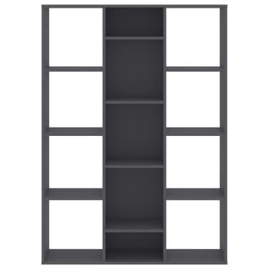 "vidaXL Room Divider/Book Cabinet Gray 39.3""x9.4""x55.1"" Chipboard[5/7]"