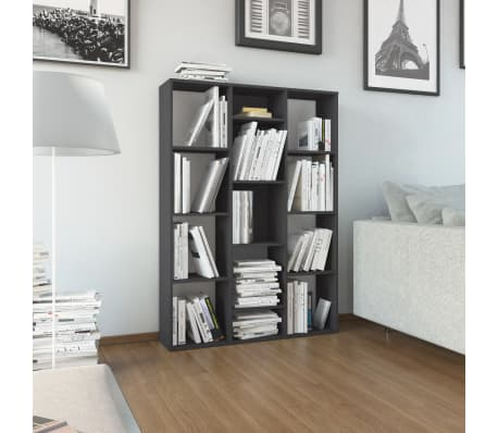 "vidaXL Room Divider/Book Cabinet Gray 39.3""x9.4""x55.1"" Chipboard[1/7]"