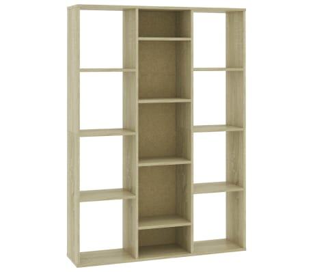 vidaXL Separator cameră/Bibliotecă, stejar Sonoma, 100x24x140 cm, PAL