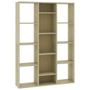 "vidaXL Room Divider/Book Cabinet Sonoma Oak 39.3""x9.4""x55.1"" Chipboard[2/7]"
