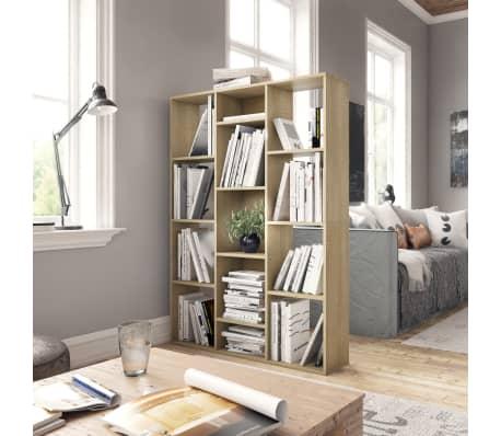 "vidaXL Room Divider/Book Cabinet Sonoma Oak 39.3""x9.4""x55.1"" Chipboard[3/7]"