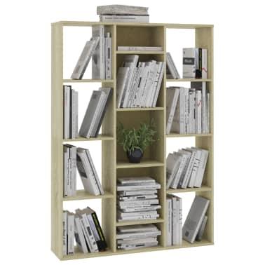 "vidaXL Room Divider/Book Cabinet Sonoma Oak 39.3""x9.4""x55.1"" Chipboard[4/7]"