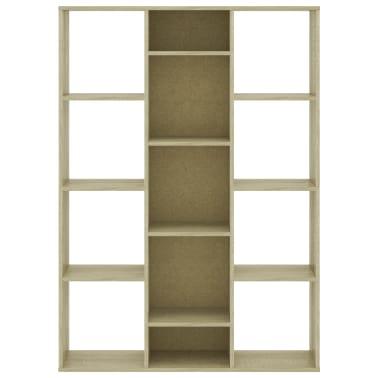 "vidaXL Room Divider/Book Cabinet Sonoma Oak 39.3""x9.4""x55.1"" Chipboard[5/7]"