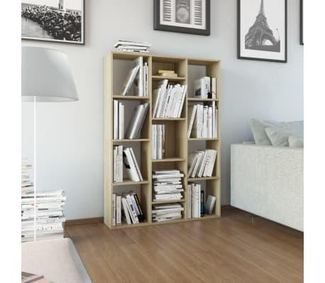 "vidaXL Room Divider/Book Cabinet Sonoma Oak 39.3""x9.4""x55.1"" Chipboard[1/7]"