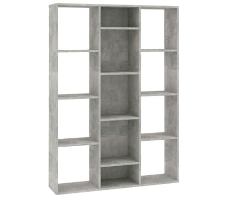 "vidaXL Room Divider/Book Cabinet Concrete Gray 39.3""x9.4""x55.1"" Chipboard[2/7]"