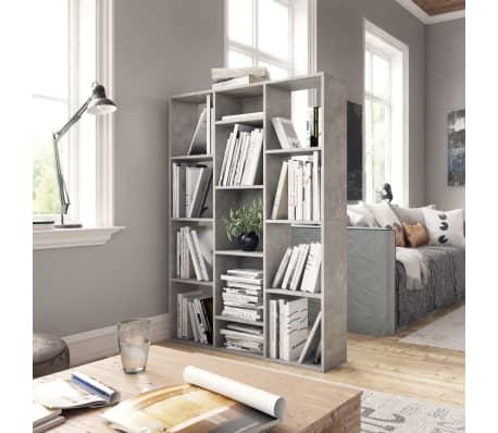 "vidaXL Room Divider/Book Cabinet Concrete Gray 39.3""x9.4""x55.1"" Chipboard[3/7]"