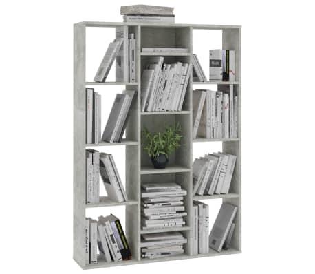 "vidaXL Room Divider/Book Cabinet Concrete Gray 39.3""x9.4""x55.1"" Chipboard[4/7]"