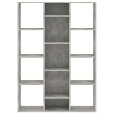 "vidaXL Room Divider/Book Cabinet Concrete Gray 39.3""x9.4""x55.1"" Chipboard[5/7]"