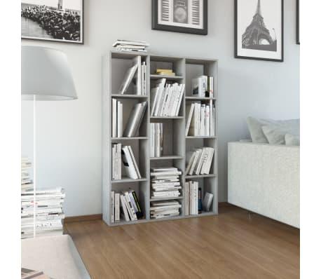 "vidaXL Room Divider/Book Cabinet Concrete Gray 39.3""x9.4""x55.1"" Chipboard[1/7]"
