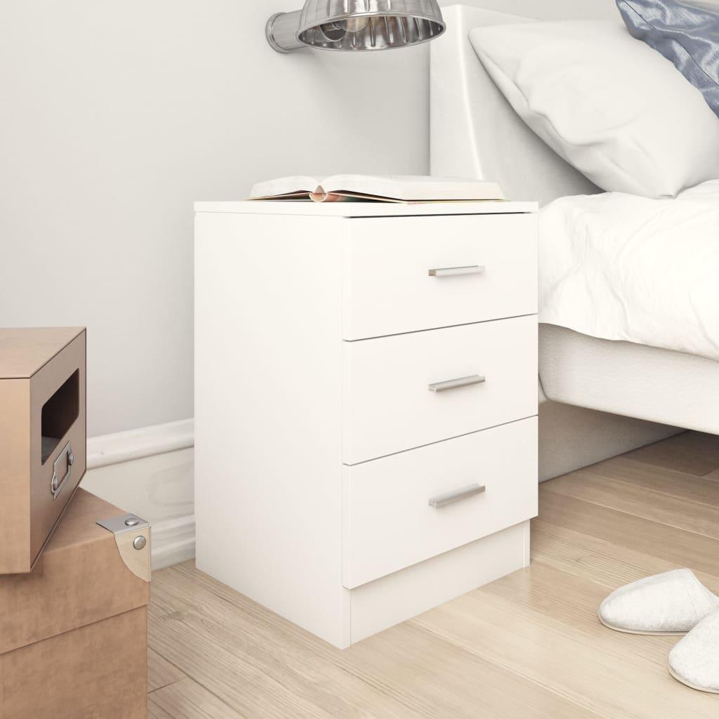 vidaXL Noční stolek bílý 38 x 35 x 56 cm dřevotříska