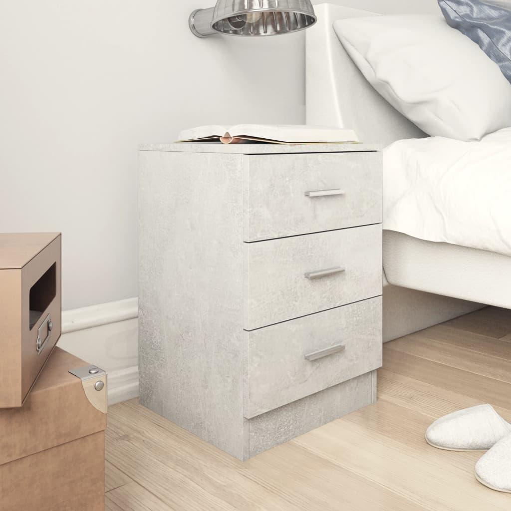 vidaXL Noční stolek betonově šedý 38 x 35 x 56 cm dřevotříska