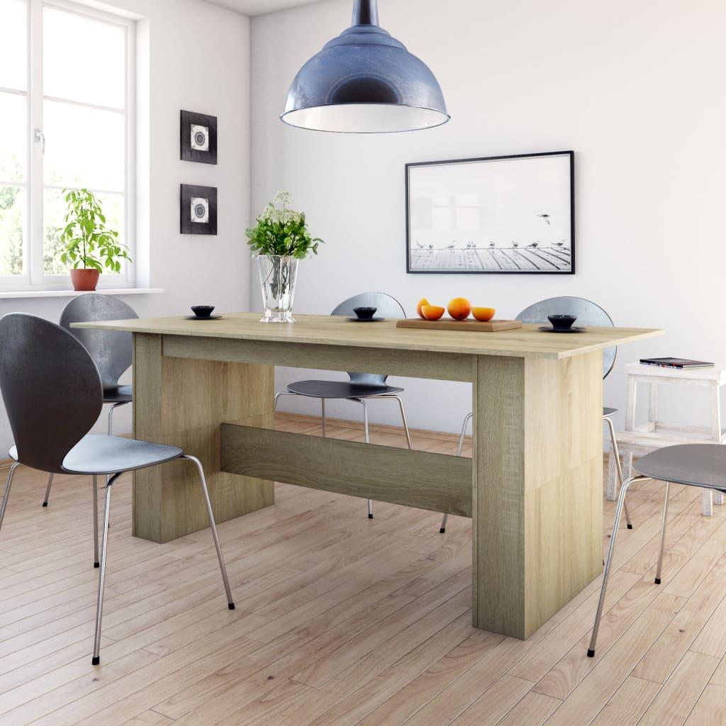 vidaXL Blagovaonski stol boja hrasta sonome 180 x 90 x 76 cm iverica