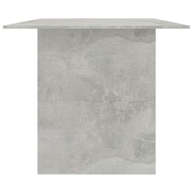"vidaXL Dining Table Concrete Gray 70.8""x35.4""x29.9"" Chipboard[5/6]"