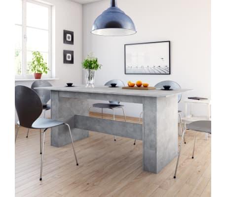 "vidaXL Dining Table Concrete Gray 70.8""x35.4""x29.9"" Chipboard[1/6]"