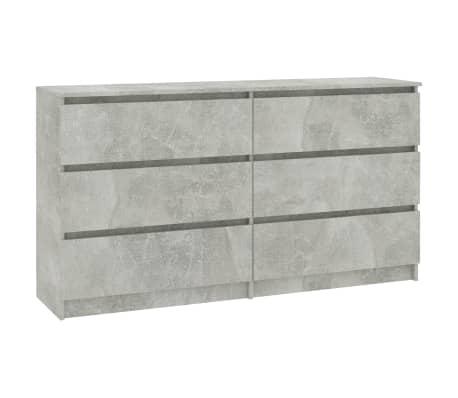 vidaXL Buffet Gris béton 140 x 35 x 77 cm Aggloméré[2/6]