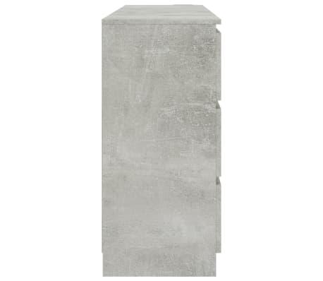 vidaXL Buffet Gris béton 140 x 35 x 77 cm Aggloméré[5/6]