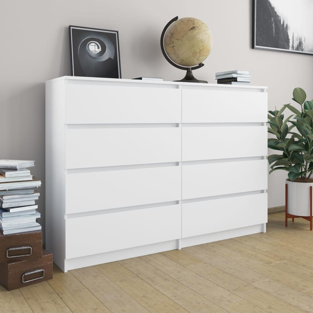 vidaXL Servantă, alb, 140 x 35 x 99 cm, PAL poza vidaxl.ro