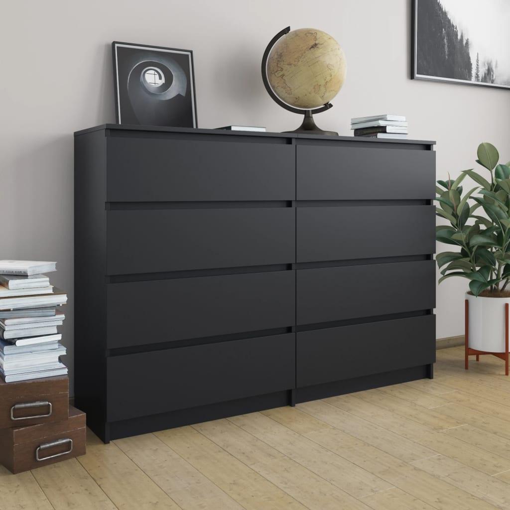 Puhvetkapp, must, 140 x 35 x 99 cm, puitlaastplaa..