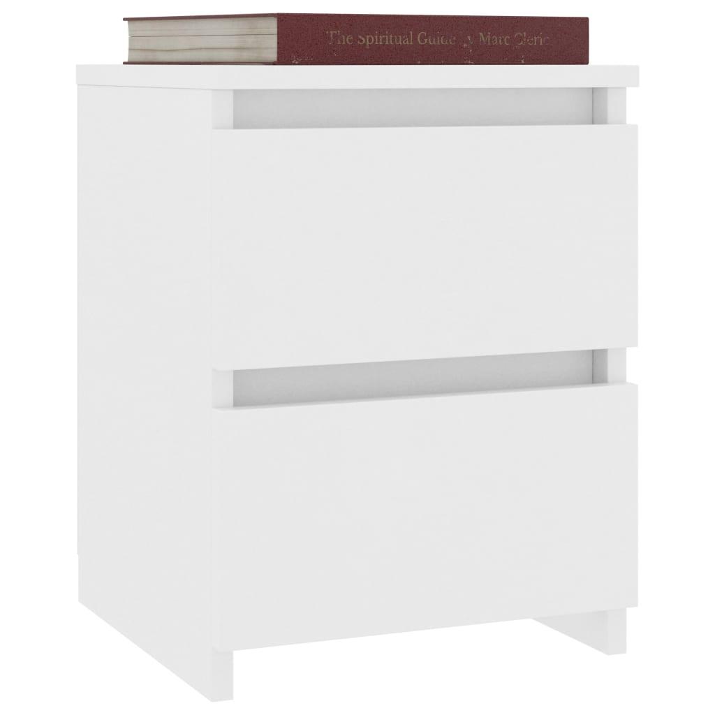 vidaXL Nachtkastjes 2 st 30x30x40 cm spaanplaat wit