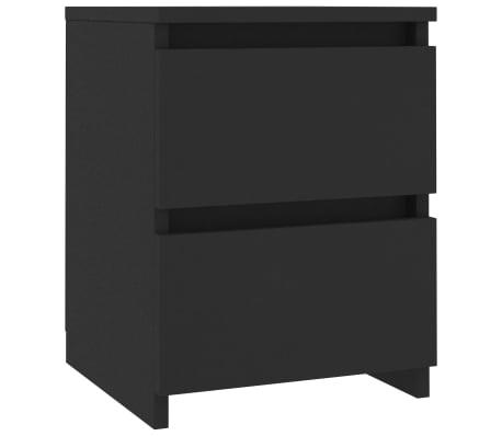 vidaXL Noptieră, negru, 30 x 30 x 40 cm, PAL