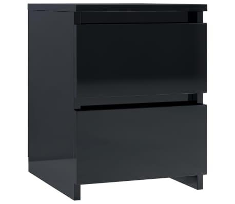 vidaXL Noptieră, negru foarte lucios, 30 x 30 x 40 cm, PAL