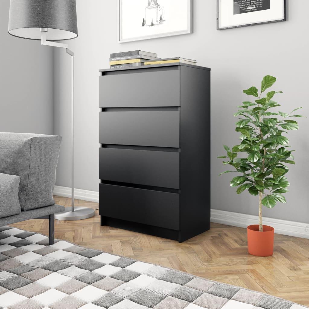 vidaXL Příborník černý 60 x 35 x 98,5 cm dřevotříska