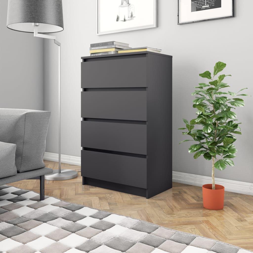 vidaXL Příborník šedý 60 x 35 x 98,5 cm dřevotříska