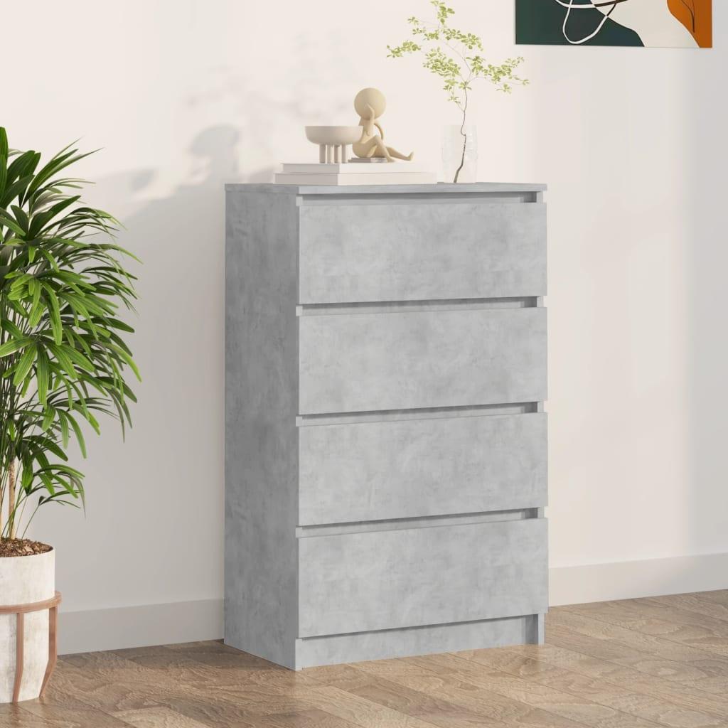 vidaXL Příborník betonově šedý 60 x 35 x 98,5 cm dřevotříska
