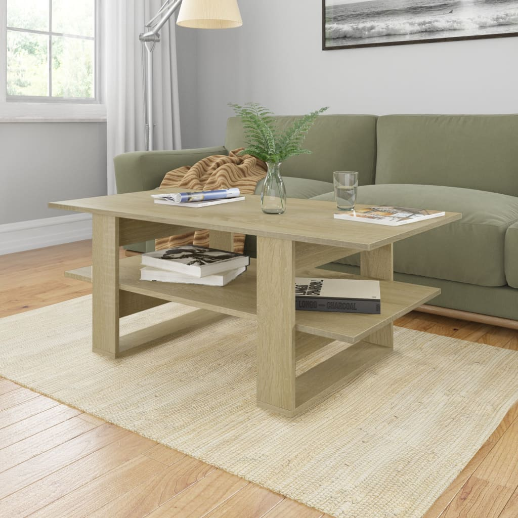 vidaXL Coffee Table Sonoma Oak 110x55x42 cm Chipboard