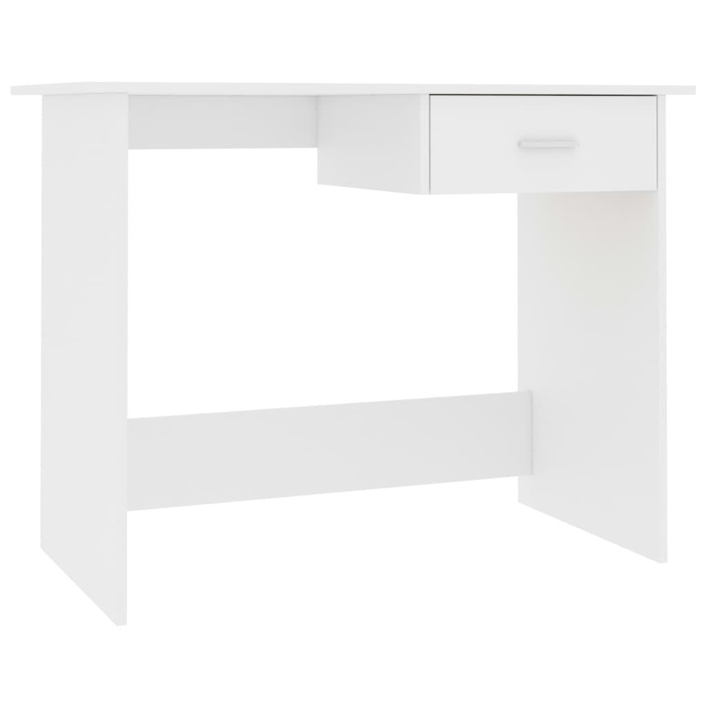 vidaXL Γραφείο Λευκό 100 x 50 x 76 εκ. από Μοριοσανίδα