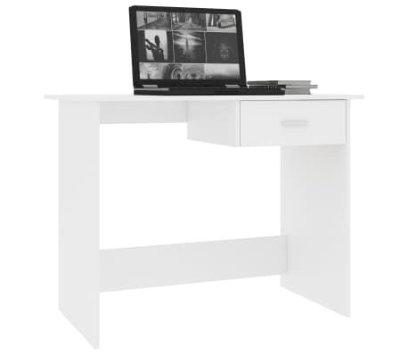 vidaXL Bureau Blanc 100 x 50 x 76 cm Aggloméré[3/6]