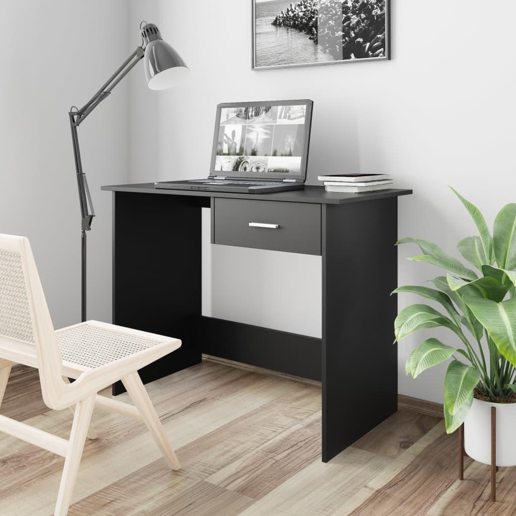 Psací stůl černý 100 x 50 x 76 cm dřevotříska